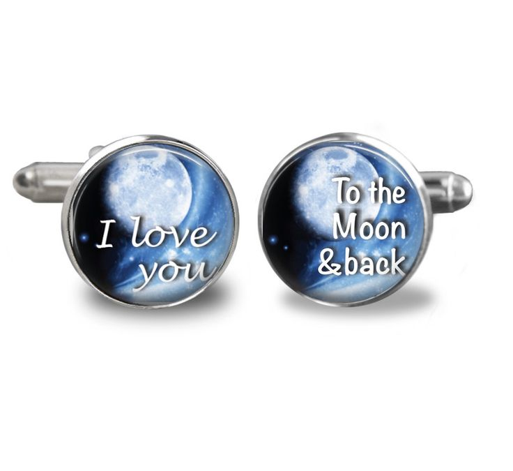 I Love you  To the Moon & back words - on Cufflinks - perfect gift for him, Christmas Birthday gift Fathers Day Special occasion by JackiesJewellery on Etsy