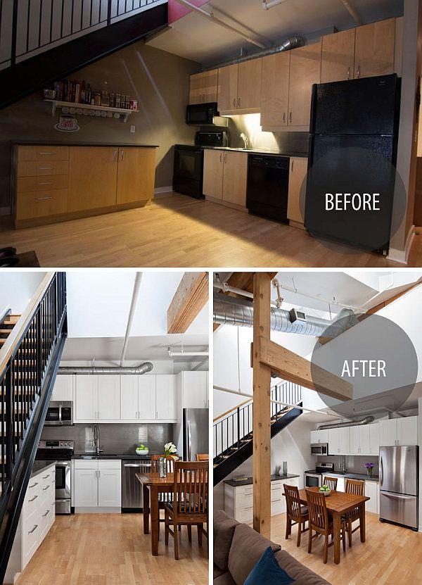 modern kitchen renovation in Toronto penthouse