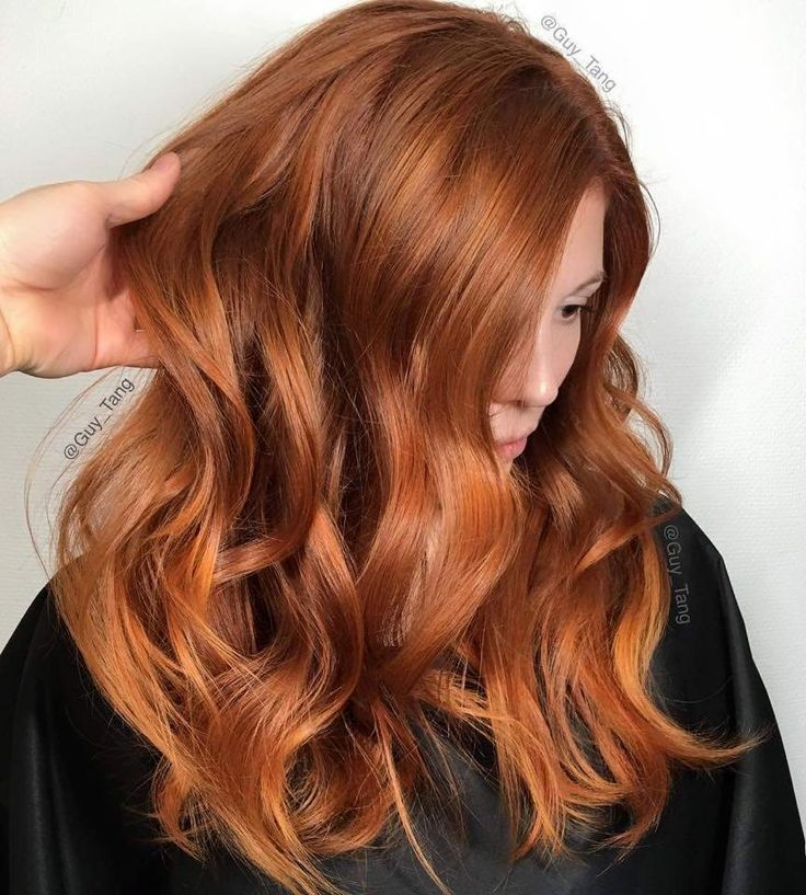 Red copper hair