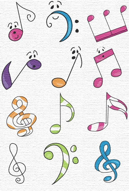 Musical Notes Free Embroidery | Designs to Inspire, Reuse | Pinterest