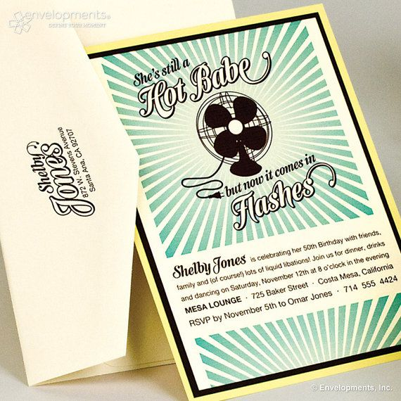 Hot Flashes 50th Birthday Invitation By SuitePaper On Etsy