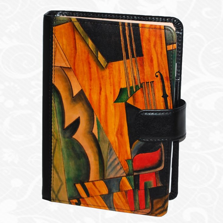 Feature: Musica   Original hand-painted diary of genuine leather. There is only one piece. Each piece is hand-painted work of art products. Diary is a beautiful unique original painting. http://www.vegalm.sk/