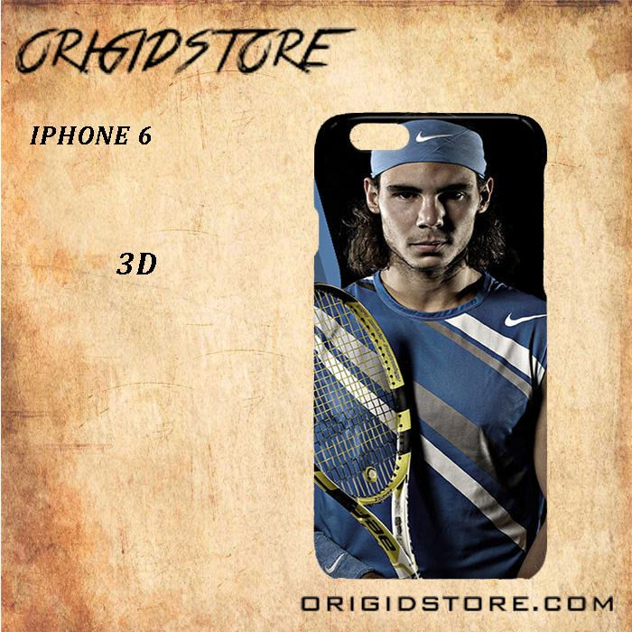 Rafael Nadal Tennis Player Black White Snap On Or 3D For Iphone 6