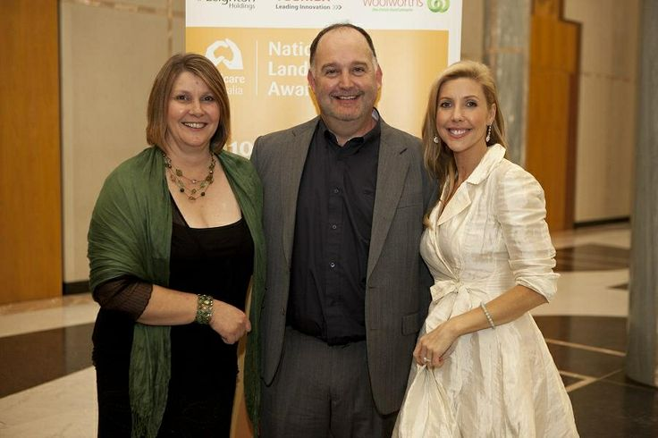 With Katriona Rountree at the national landcare awards