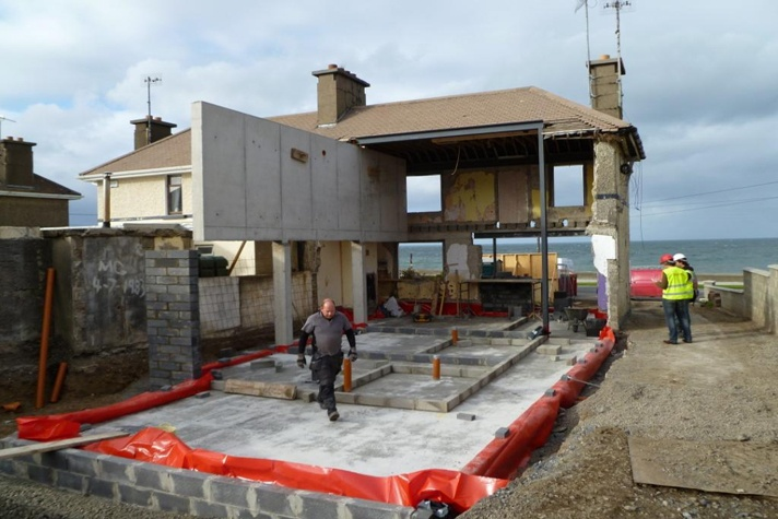 Skerries House Extension Rear During  copyright: Shomera