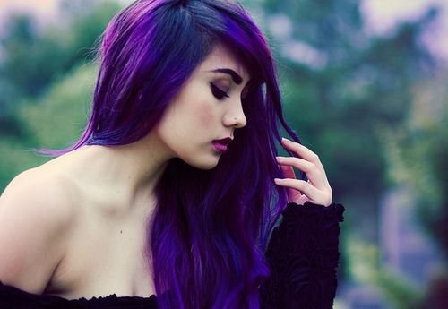 Love the purple hair.