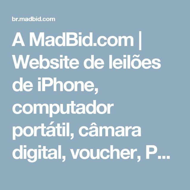 A MadBid.com | Website de leilões de iPhone, computador portátil, câmara digital, voucher, PS3, TV LCD, iPod, carro, pague para licitar