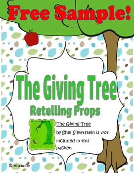 The Giving Tree Retelling Props Freebie!