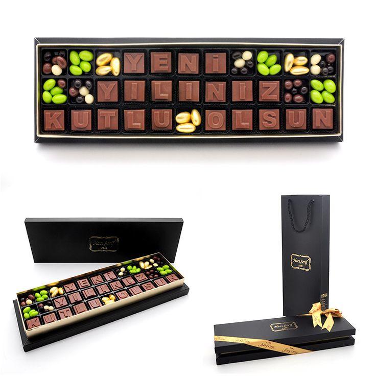 Yılbaşı Hediyeleri :: Yeni Yılınız Kutlu Olsun Harf Çikolata - Yılbaşı Hediyesi