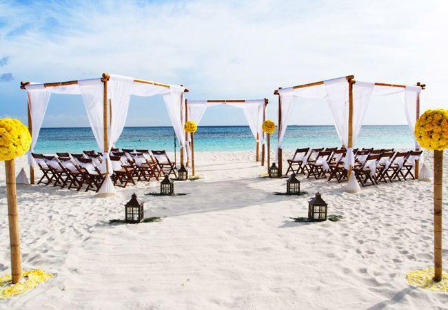 A Bright Yellow Beach Wedding In Aruba