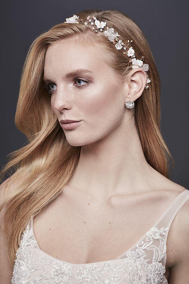 3D Flower Ribbon-Tie Headband with Pearls  8aba488f9d1