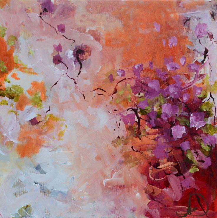 My soul flies free 40X40 cm. Acrylic on canvas. Made by Naja Duarte.