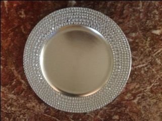 DIY Bling Charger. Wedding Charger PlatesSilver ... & 372 best CHARGER PLATES images on Pinterest | Charger plates ...