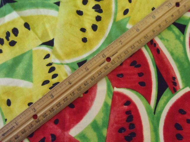 Fruit Watermelons Cotton Fabric