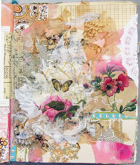 collage journal page idea