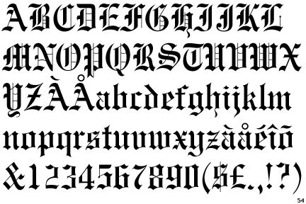Engravers' Old English (BT) | Art Typography- | Pinterest ...