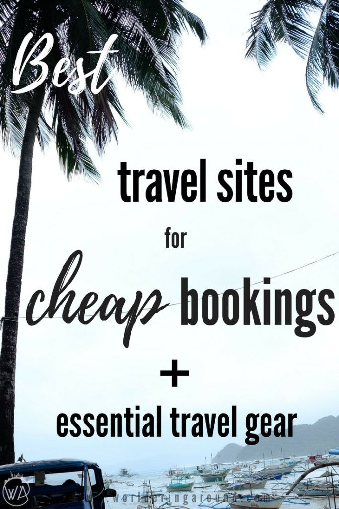 Best travel sites for cheap flights and hotels bookings and list of essential travel gear. Travel resources, travel gear, travel photography gear, travel booking sites, cheap flights, cheap hotels, travel tips #traveltips #travelbookings #cheapflights| Worldering around