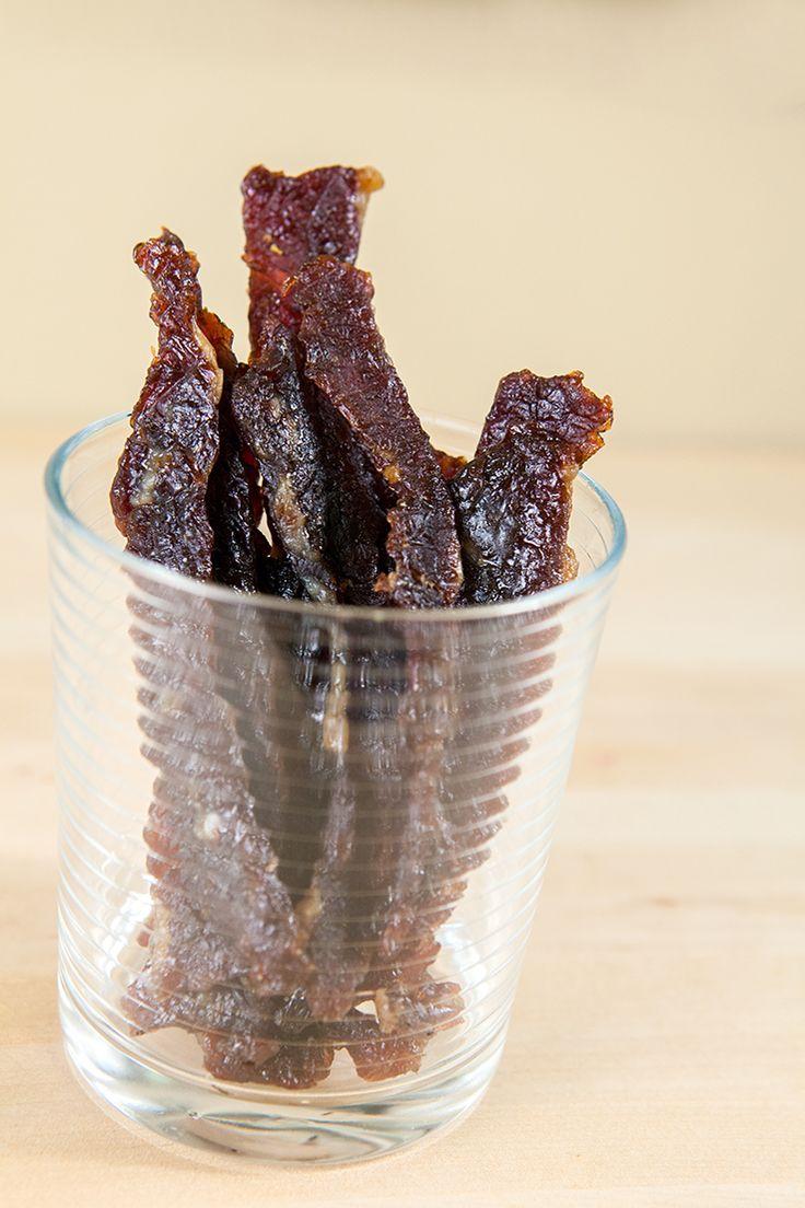 Spicy-Teriyaki Beef Jerky | spachethespatula.com #recipe
