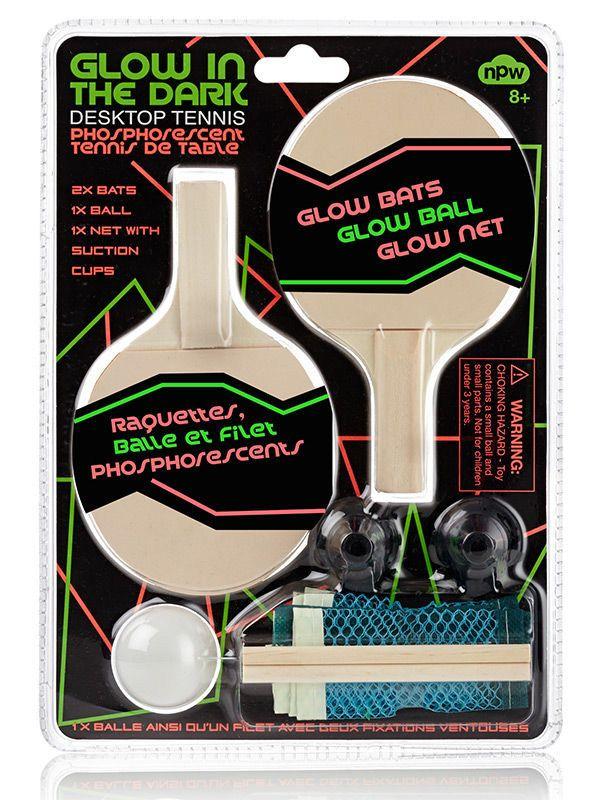 Glow in the Dark Tischtennis-Set bunt