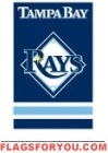 "Rays Applique Banner Flag 44"" x 28"""