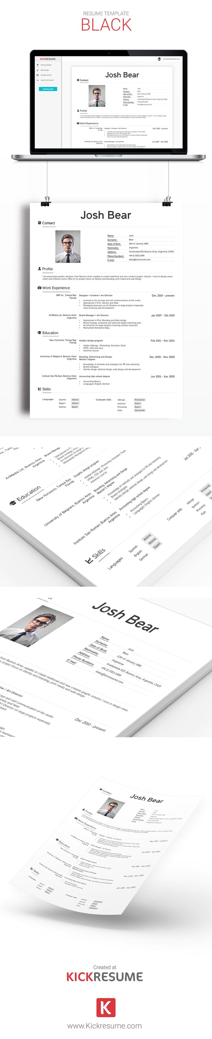 best images about kickresume templates gallery resume samples create stand out resume and get hired kickresume com resume sample