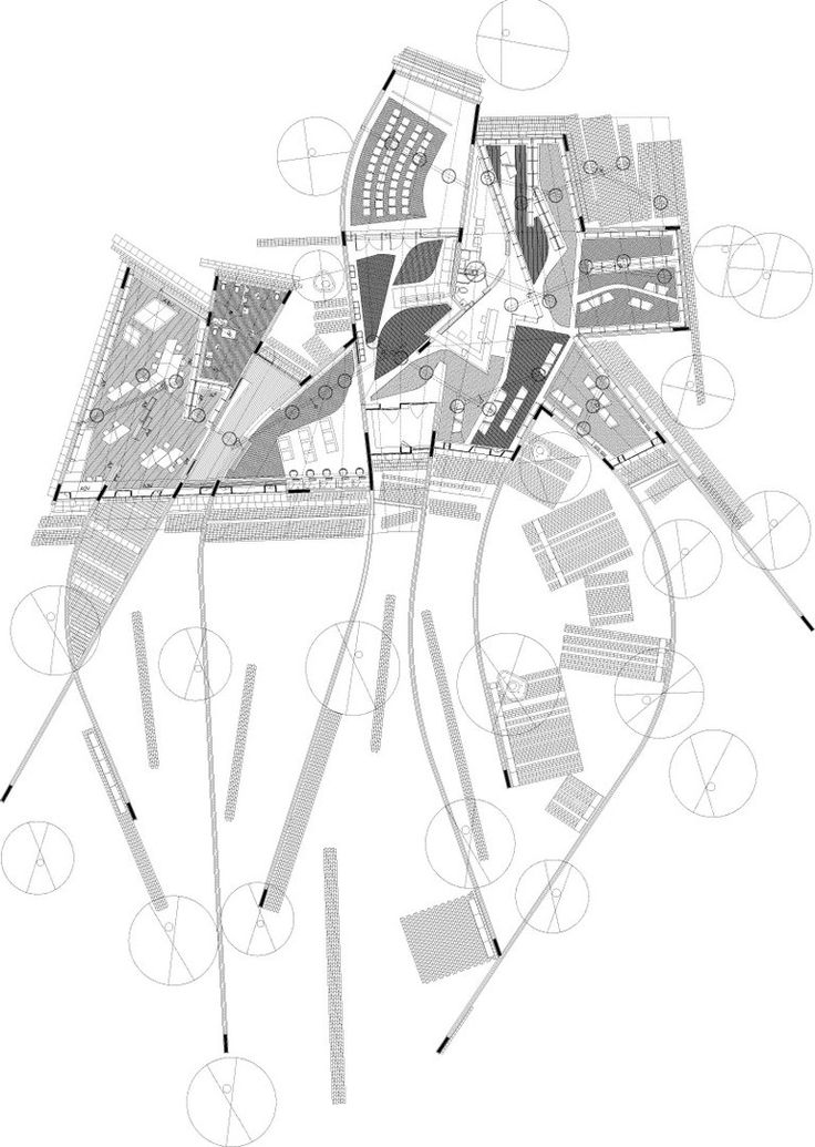 media for public library enric miralles in palafolls openbuildings architecture drawings. Black Bedroom Furniture Sets. Home Design Ideas
