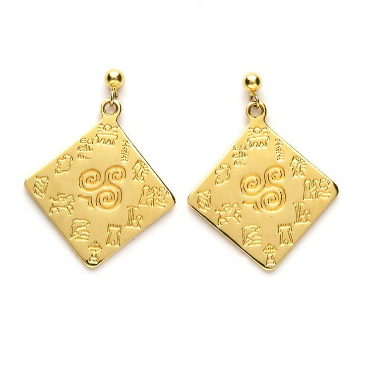 Impressions of Ireland Large Earrings - Celtic Earrings - Rings from Ireland. Part of our Impressions of Ireland Collection. Each piece in the collection is engraved with a broad range of icons that have significant importance to Irelands past and present.