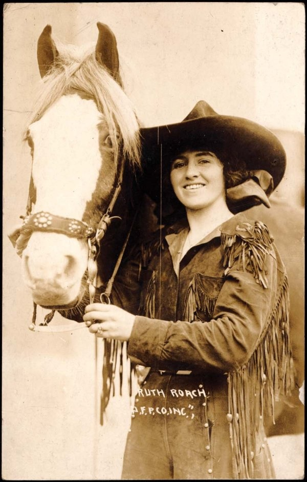 Ruth Roach, 1896 - 1986, professional bronc rider and World's Champion All-Around Cowgirl.  Inducted into the National Cowgirl Hall of Fame and the National Cowboy Hall of Fame in 1989.