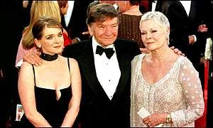 Actor Michael Williams with wife Judi Dench and daughter actress Finty Williams