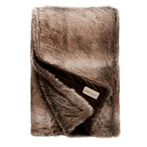 Desertfox blanket Winter home  This beautiful synthetic blanket, imitation desertfox fur is lined in velvet. It is very flexible and resistant to sunlight as well as washing. Its texture of an incomparable softness will warm you so much that you can't do without during your long winter evenings.  http://trend-on-line.com/brand/winter-home/plaid-desertfox