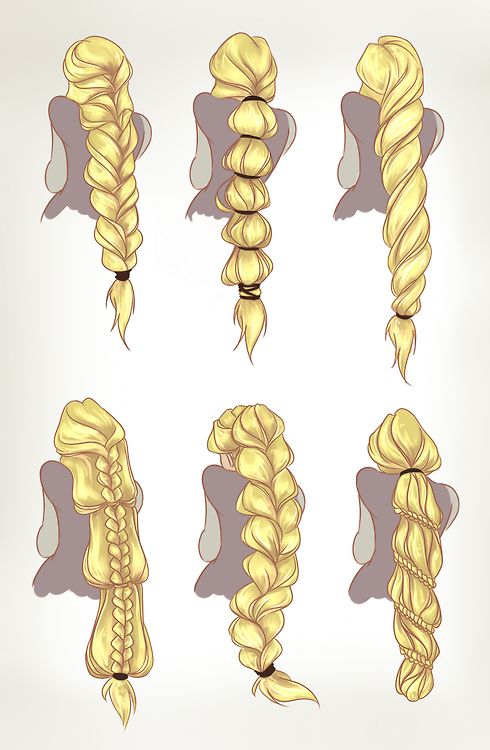 by dreamwips--Rapunzel hair concepts. This can be useful o.o