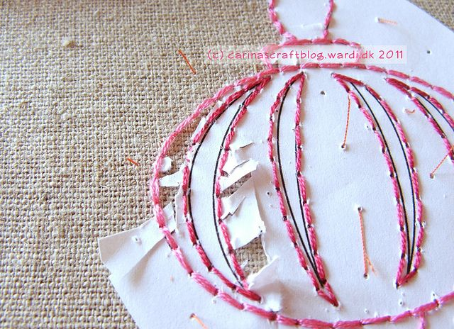 embroidery with paper patternEmbroidery Embroidery, Embroidery Transfer, Paper Embroidery, Embroidery Pattern, Crafts Ideas, Paper Pattern, Embroidery Templates, Needlework News, Embroidery Paper