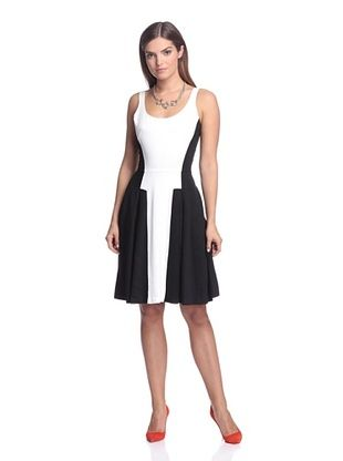 60% OFF French Connection Women's Fast Colorblock Dress (White)