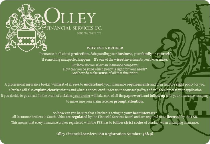 Why it might be a good idea to have your own broker... celri@olleyfin.co.za