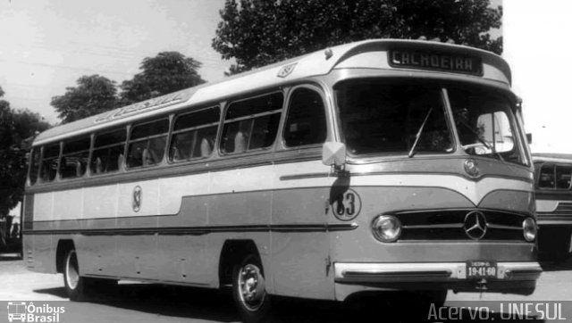 Ônibus da empresa Unesul de Transportes, carro 83, carroceria Mercedes-Benz Monobloco O-321, chassi Mercedes-Benz O-321. Foto na cidade de Porto Alegre-RS por Acervo: UNESUL, publicada em 29/08/2016 12:34:36.
