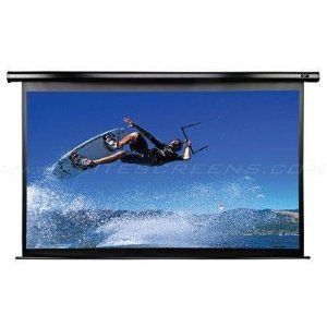 Elite Screens Electric125H-A1080P2 Spectrum Acoustically Transparent Electric Projection Screen (125 inch Diagonal 16:9 Ratio 61.3Hx109W) 16:9 Aspect Ratio; Diagonal Size: 125?; View Size: 61.3?Hx109?W; Overall Size: 72.7?Hx122.2?W. AcousticPro 1080P2 acoustically transparent screen material designed with 1.0 gain that allows users to hide speakers behind the screen without disrupting picture qu... #EliteScreens #CE