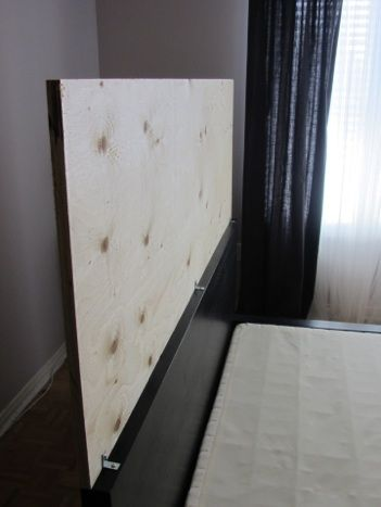 Malm upholstered headboard hack