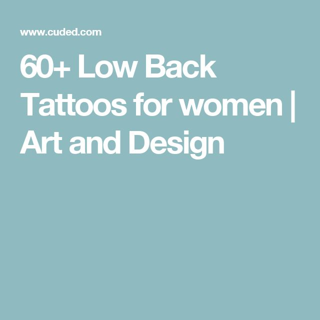 60+ Low Back Tattoos for women   Art and Design