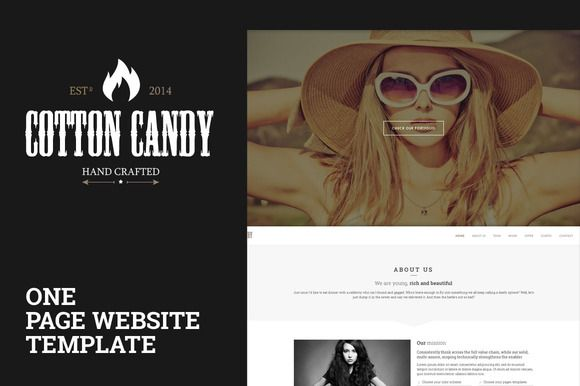 Check out Cotton Candy | One page template by Little Neko on Creative Market