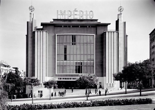 "Cinema ""Imperio"" (1952) in Lisbon, Portugal, by Cassiano Branco"