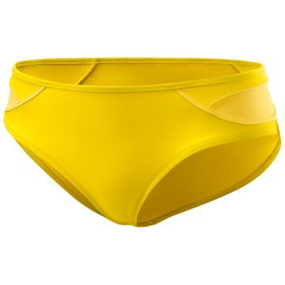 Yellow Adidas bikini bottom, by Stella McCartney. Low waisted. There's also a high waisted variant, but I found it too granny looking.