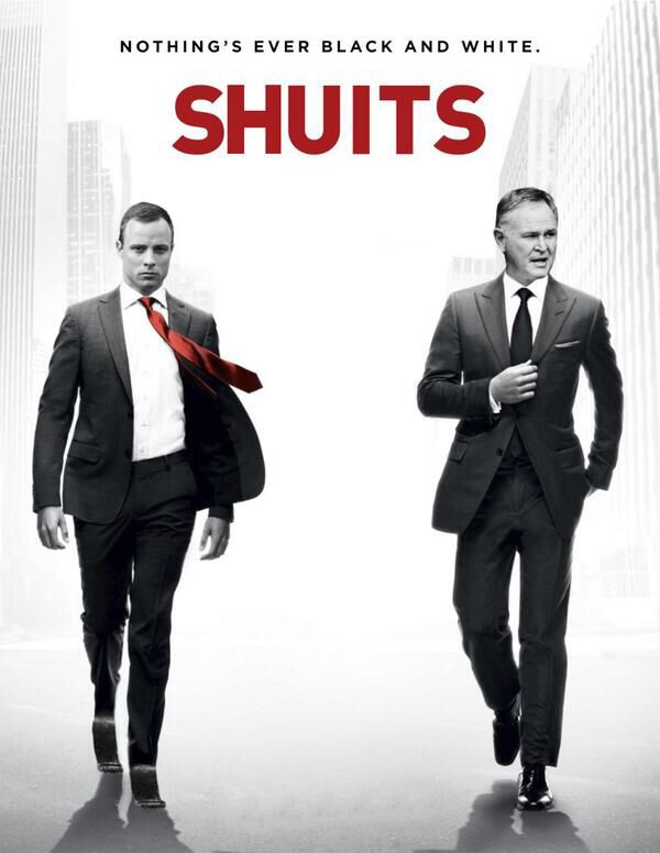 #oscarpistorious Barry Roux & OP as Harvey Spector and Michael Ross respectively