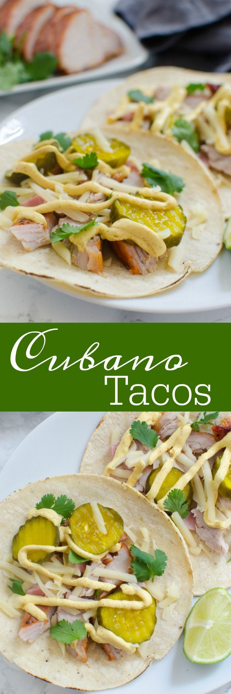 Cubano Tacos - everything you love about a Cuban sandwich as a taco! Perfect way to switch up Taco Tuesday! #RealFlavorRealFast AD