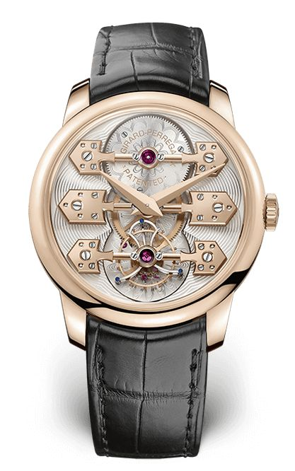 Girard-Perregaux La Esmeralda Tourbillon This was one of the watches created for Girard-Perregaux's 225th anniversary. The 18 carat pink gold case contains the Tourbillon with Three Bridges mechanical caliber with automatic winding. This is an in-house movement that's been optimised to deliver a superior 60 hour power reserve. With all the emphasis on precision, design hasn't taken a backseat. This is one of the most unforgettable dials of the year.