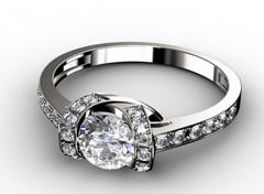 Diamant Verlobungsring Duchess, 750er Weißgold 18 Karat