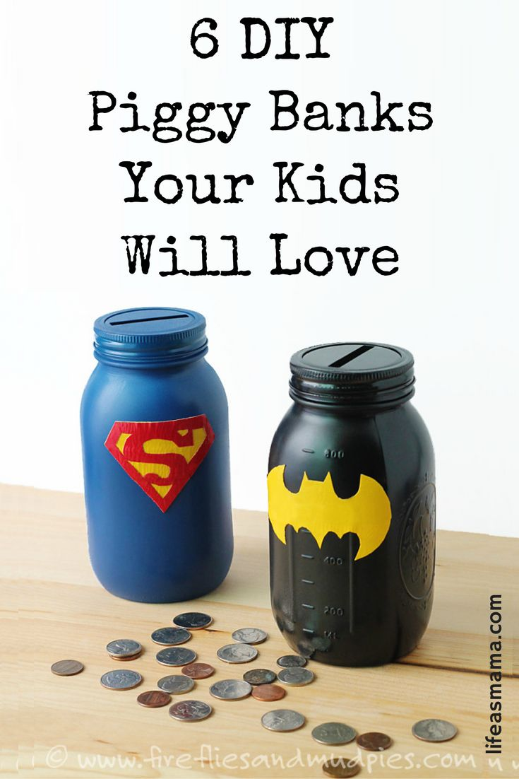 What better way to get kids excited about money than creating a cute piggy bank just for them? These DIY versions are such an easy way to use everyday objects to create a super fun bank that your kids will love collecting coins in!