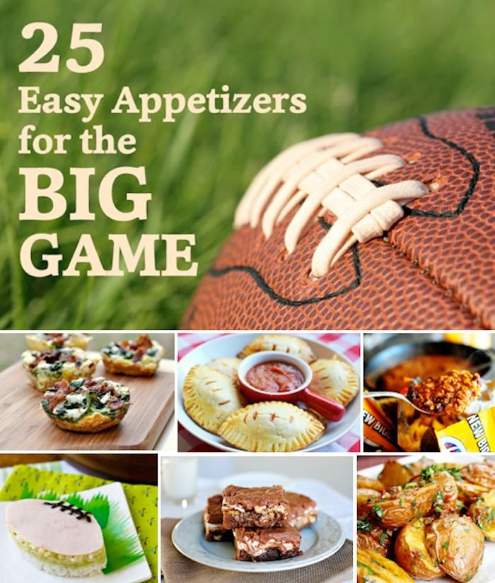 25 Big Game Football Super Bowl Appetizer Recipes! Kara's Party Ideas
