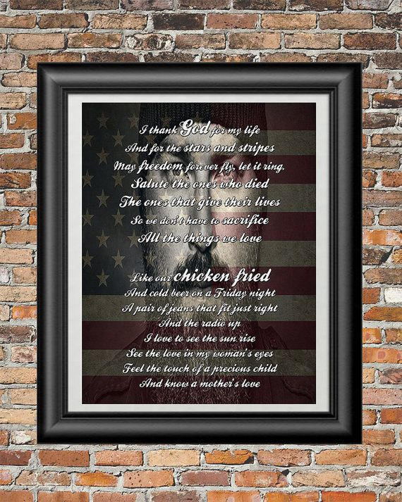 Chicken Fried by Zac Brown Band printable by PrintableSongParts