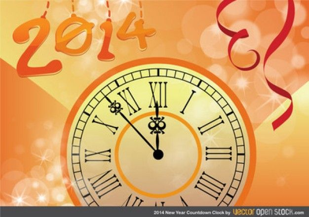 Countdown clock for new year 2014