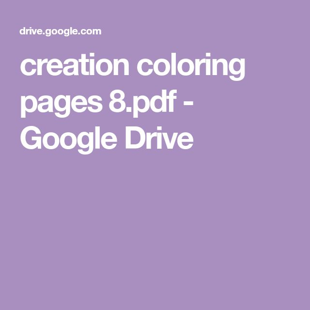 creation coloring pages 8.pdf - Google Drive   Creation ...